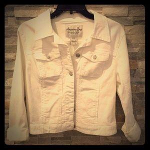 American Rag White Denim Jacket